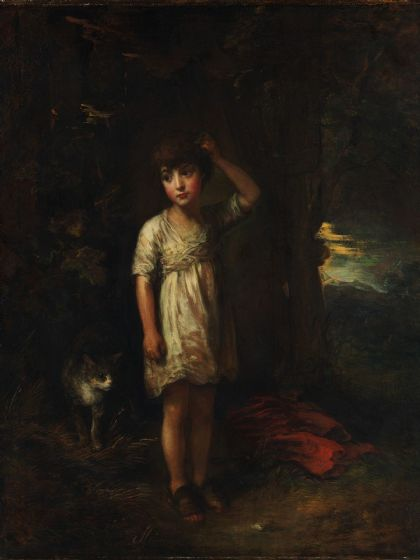 Gainsborough, Thomas: A Boy with a Cat - Morning. Fine Art Print/Poster (5249)